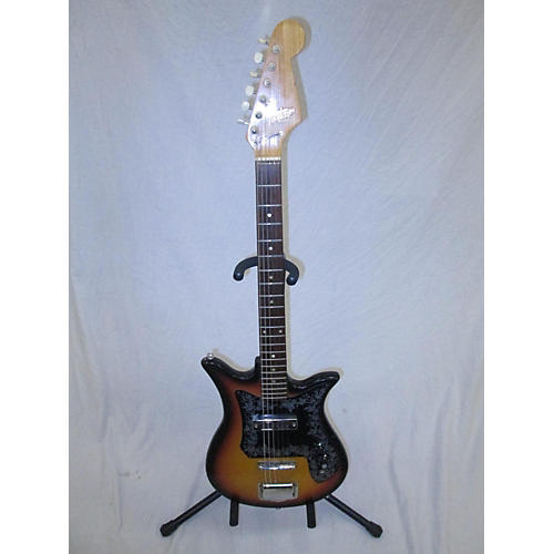 Vintage Teisco 1960s E 110 Tulip Solid Body Electric Guitar 2 Color