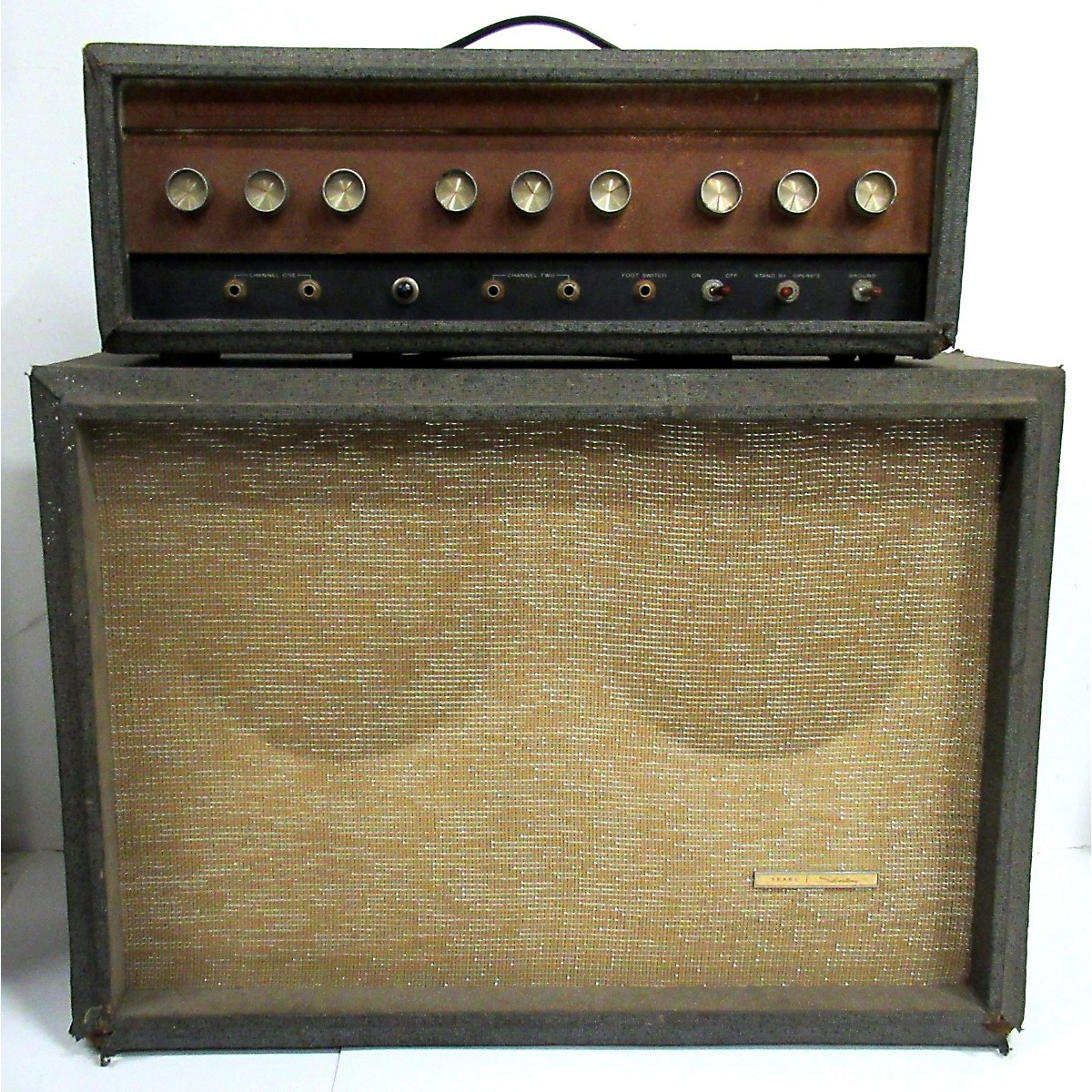 Silvertone 1960s Model 1484 Head And Cabinet Tube Guitar Combo Amp