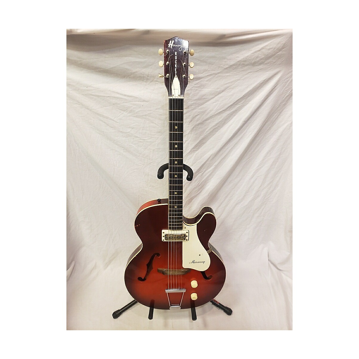 Harmony 1960s Rocket 1 Hollow Body Electric Guitar