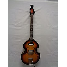 Teisco 1960s Silvertone Violin Guitar Hollow Body Electric Guitar