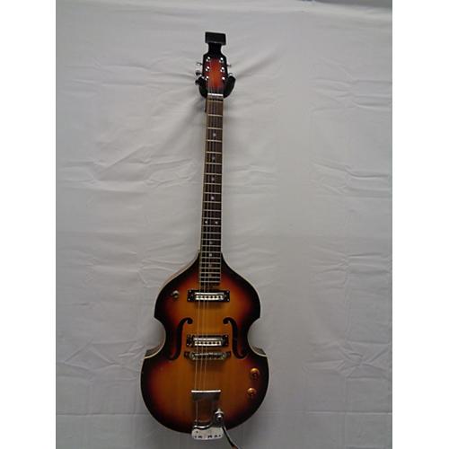 Vintage Teisco 1960s Silvertone Violin Guitar Hollow Body Electric