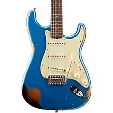1962 Heavy Relic Stratocaster Electric Guitar Lake Placid Blue over 3-Color Sunburst
