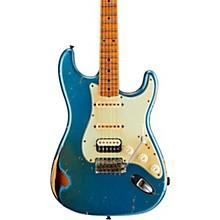 1962 Heavy Relic Stratocaster HSS Maple Fingerboard Masterbuilt by John Cruz Lake Placid Blue over 2-Color Sunburst