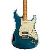 Fender Custom Shop 1962 Heavy Relic Stratocaster HSS Maple Fingerboard Masterbuilt by John Cruz Lake Placid Blue over Black