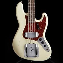 Fender Custom Shop 1962 Journeyman Relic Jazz Electric Bass Guitar Aged Olympic White