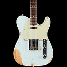 1963 Heavy Relic Telecaster Custom Built Electric Guitar Super Faded Aged Sonic Blue