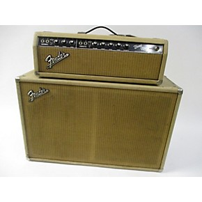vintage fender 1964 bandmaster head w cab white tube guitar combo amp guitar center. Black Bedroom Furniture Sets. Home Design Ideas