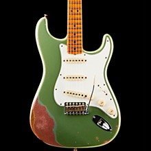 1964 Special Relic Stratocaster Limited Edition Electric Guitar Aged Sage Green Metallic Over Champagne Sparkle