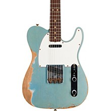 1964 Tele Custom Heavy Relic Electric Guitar Aged Blue Ice Metallic