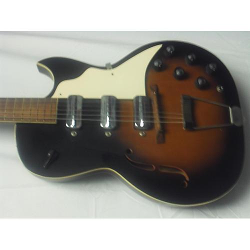 Truetone 1965 3-PUP Hollow Body Electric Guitar