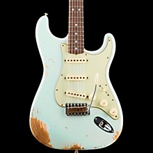 1965 Heavy Relic Stratocaster Electric Guitar Super Faded Aged Sonic Blue