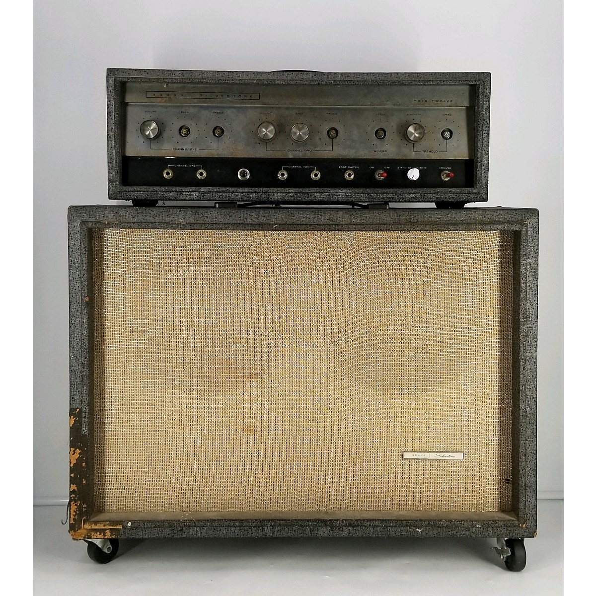Silvertone 1966 Model 1484 Head W/ Cab Tube Guitar Combo Amp