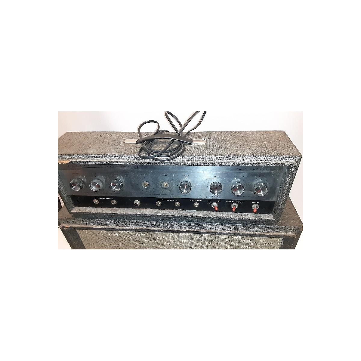 Silvertone 1966 Model 1484 Twin Twelve W/Cab Solid State Guitar Amp Head
