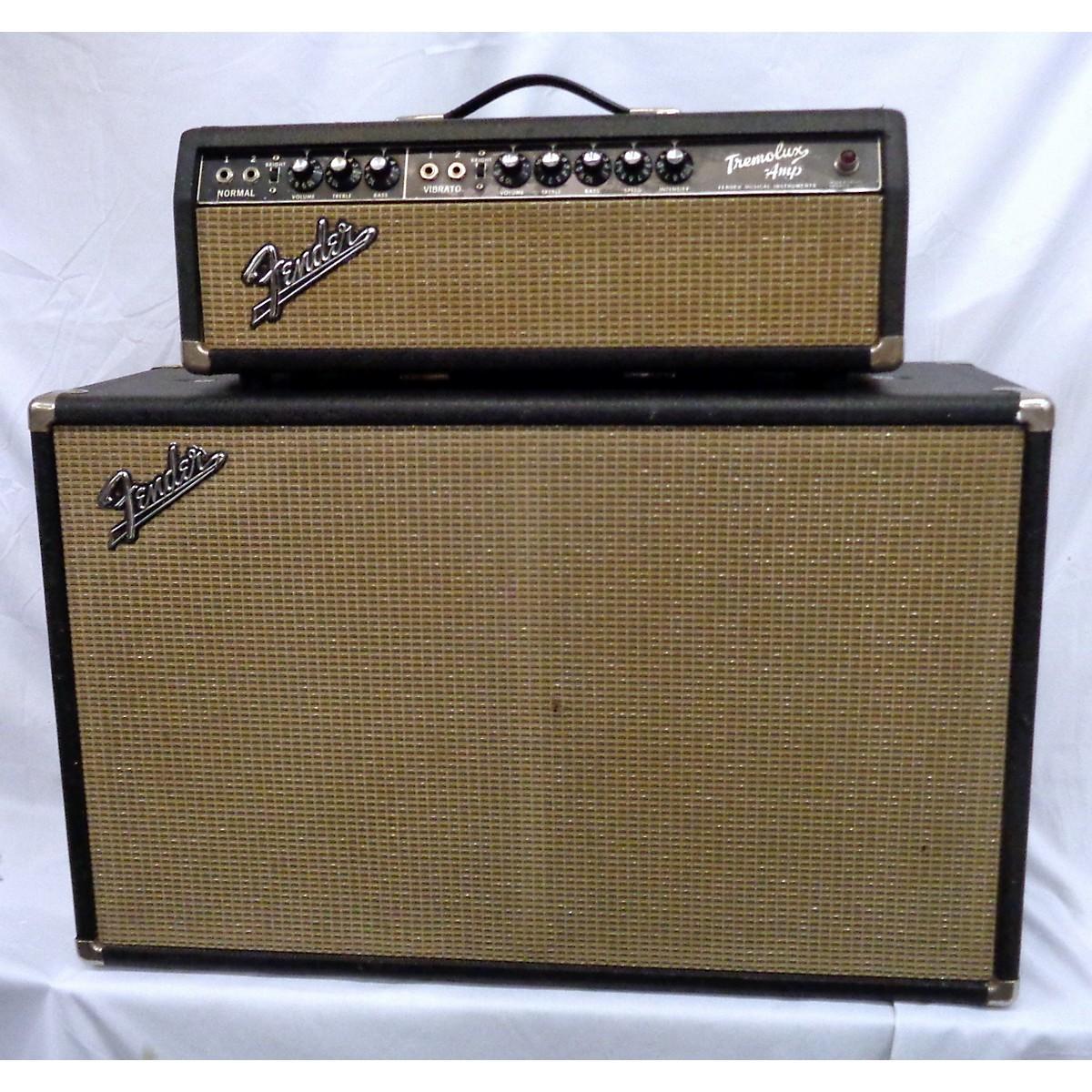 Fender 1966 Tremolux Head And Cab Tube Guitar Amp Head