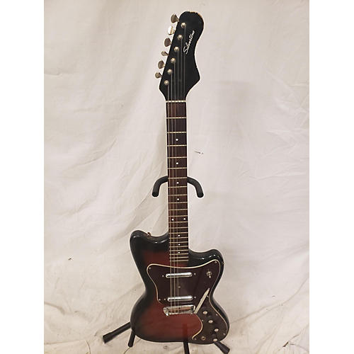 Silvertone 1967 1477 Solid Body Electric Guitar