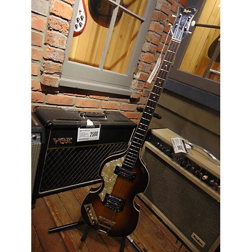 Hofner 1969 4001 Left Handed Electric Bass Guitar