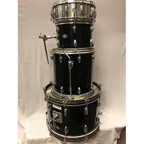 Slingerland 1970 1970's 4/pc W/ Snare Black Drum Kit