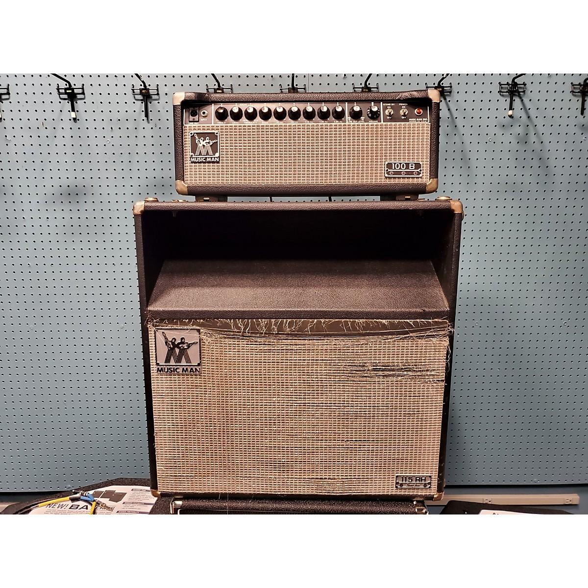 Ernie Ball Music Man 1970s 100 B Bass Head And Cab Tube Bass Amp Head