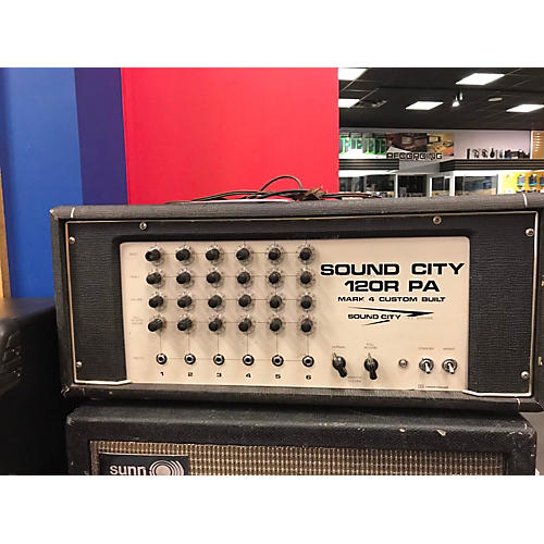 vintage sound city 1970s 12or pa guitar amp head guitar center. Black Bedroom Furniture Sets. Home Design Ideas