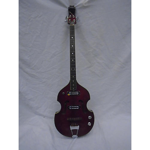 Crown 1970s 1970'S Crown Violin Bass Red Electric Bass Guitar