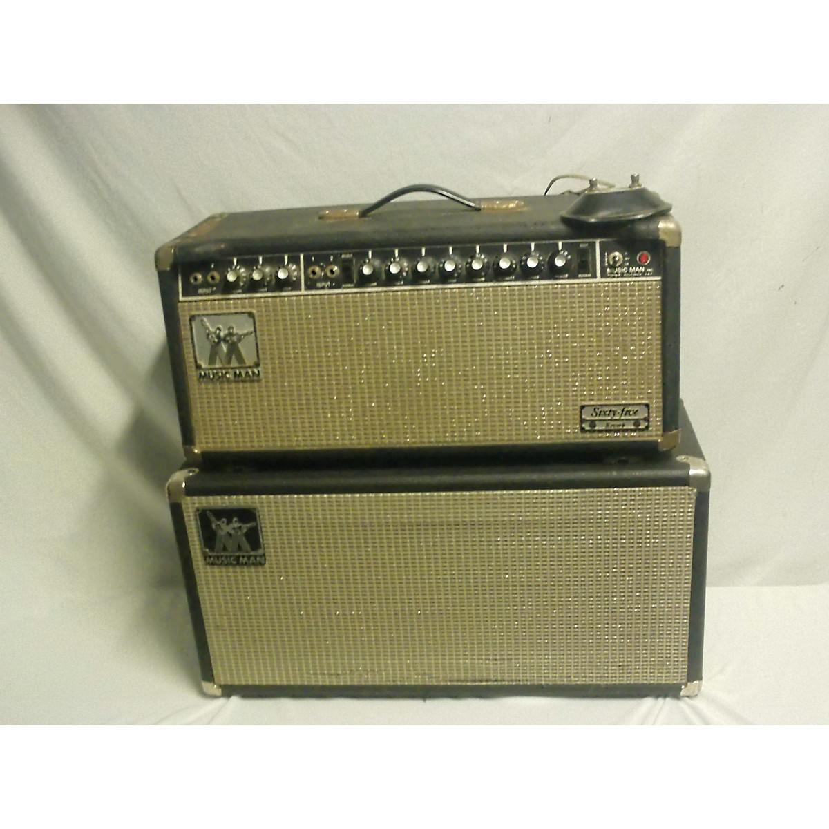 Ernie Ball Music Man 1970s 1970's Musicman Sixty-five Reverb Head And 2x10 Cab. Tube Guitar Combo Amp