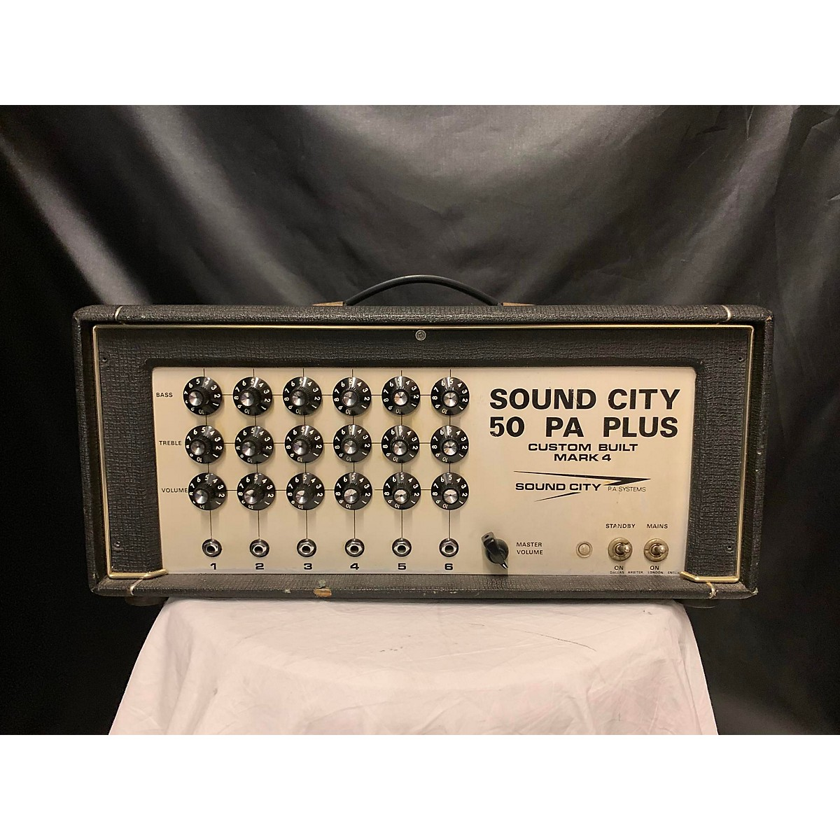 Sound City 1970s 50r Pa Head Tube Guitar Amp Head