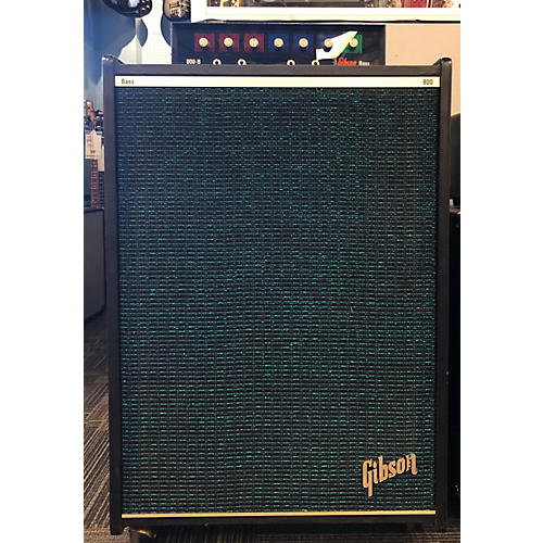 Gibson 1970s 800B Preamp With 8002b Powered Cab Bass Cabinet