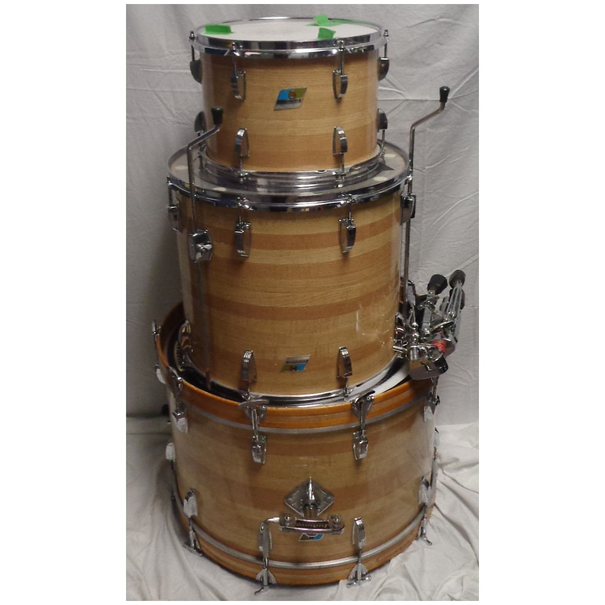 Ludwig 1970s Butcher Block Drum Kit