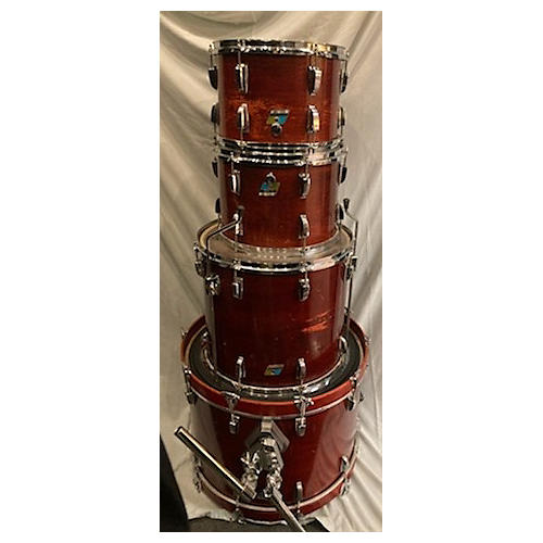 Ludwig 1970s Classic Red Mahogany Maple 6 Ply Drum Kit