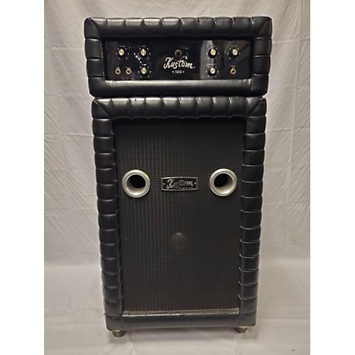 Kustom 1970s K100 Amp And Tuck N Roll Cab Bass Combo Amp