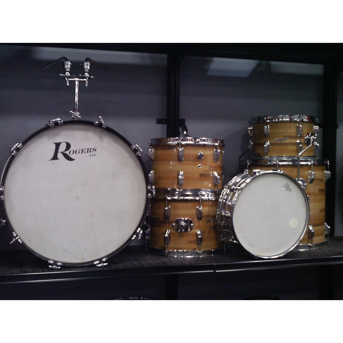 Rogers 1970s LONDONER V W/ DYNASONIC Drum Kit