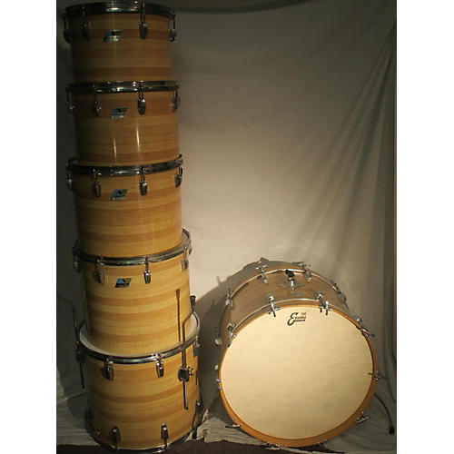 Ludwig 1970s Quadra-Plus Outfit Butcher Block Drum Kit