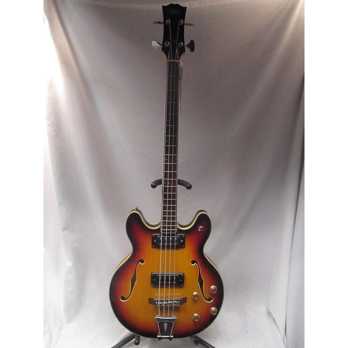 Aria 1970s Semi-Hollow 2PU Bass Electric Bass Guitar