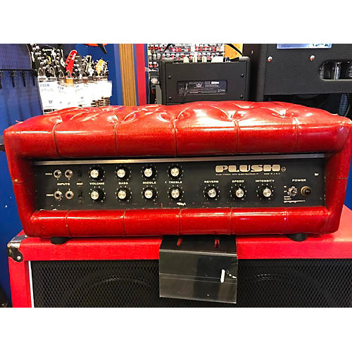 vintage plush 1970s tuck n roll 100 tube guitar amp head guitar center. Black Bedroom Furniture Sets. Home Design Ideas