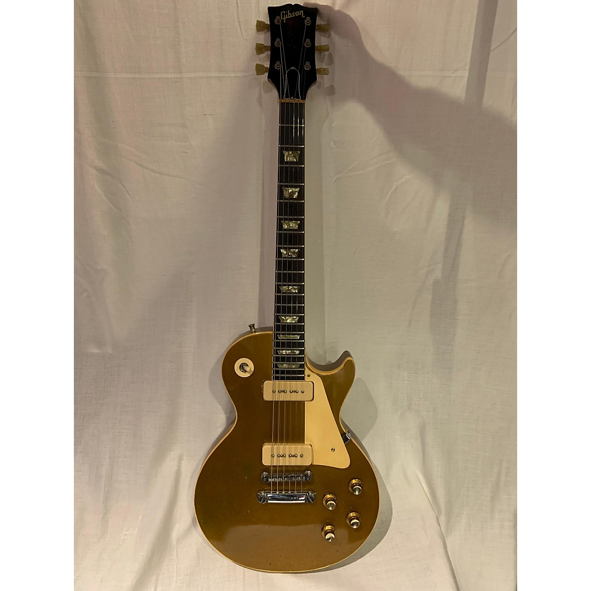 Gibson 1972 1972 Gibson Les Paul Model Gold Top Solid Body Electric Guitar