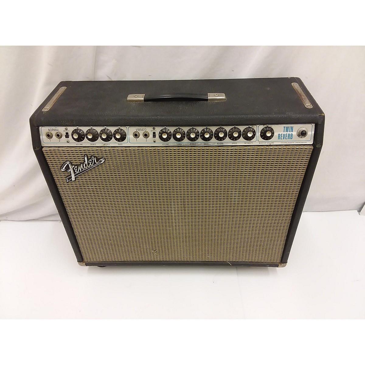 Fender 1972 Twin Reverb 2x12 Tube Guitar Combo Amp