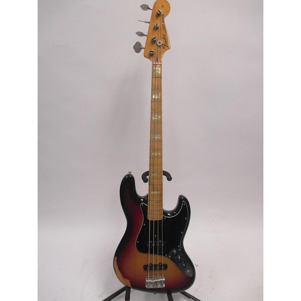 Fender 1975 1960 Relic Duo Tone Jazz Bass Electric Bass Guitar