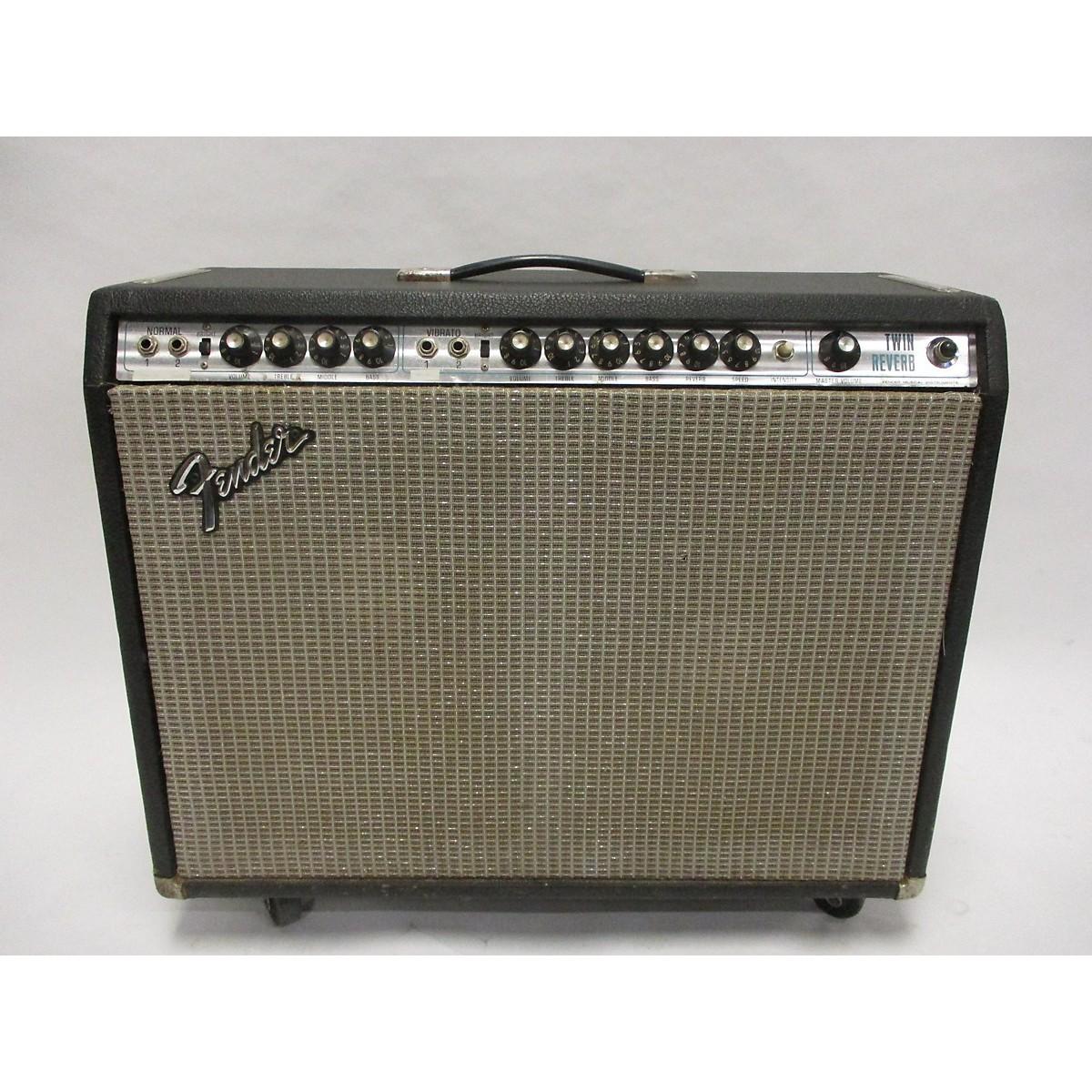 Fender 1975 Twin Reverb 2x12 Tube Guitar Combo Amp