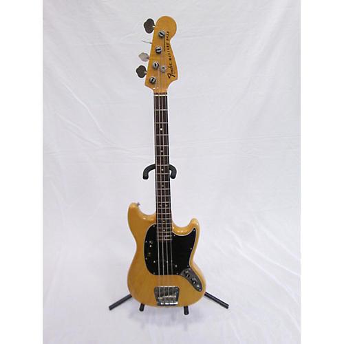 Fender 1977 1977 Fender Mustang Bass Natural OHSC Electric Bass Guitar