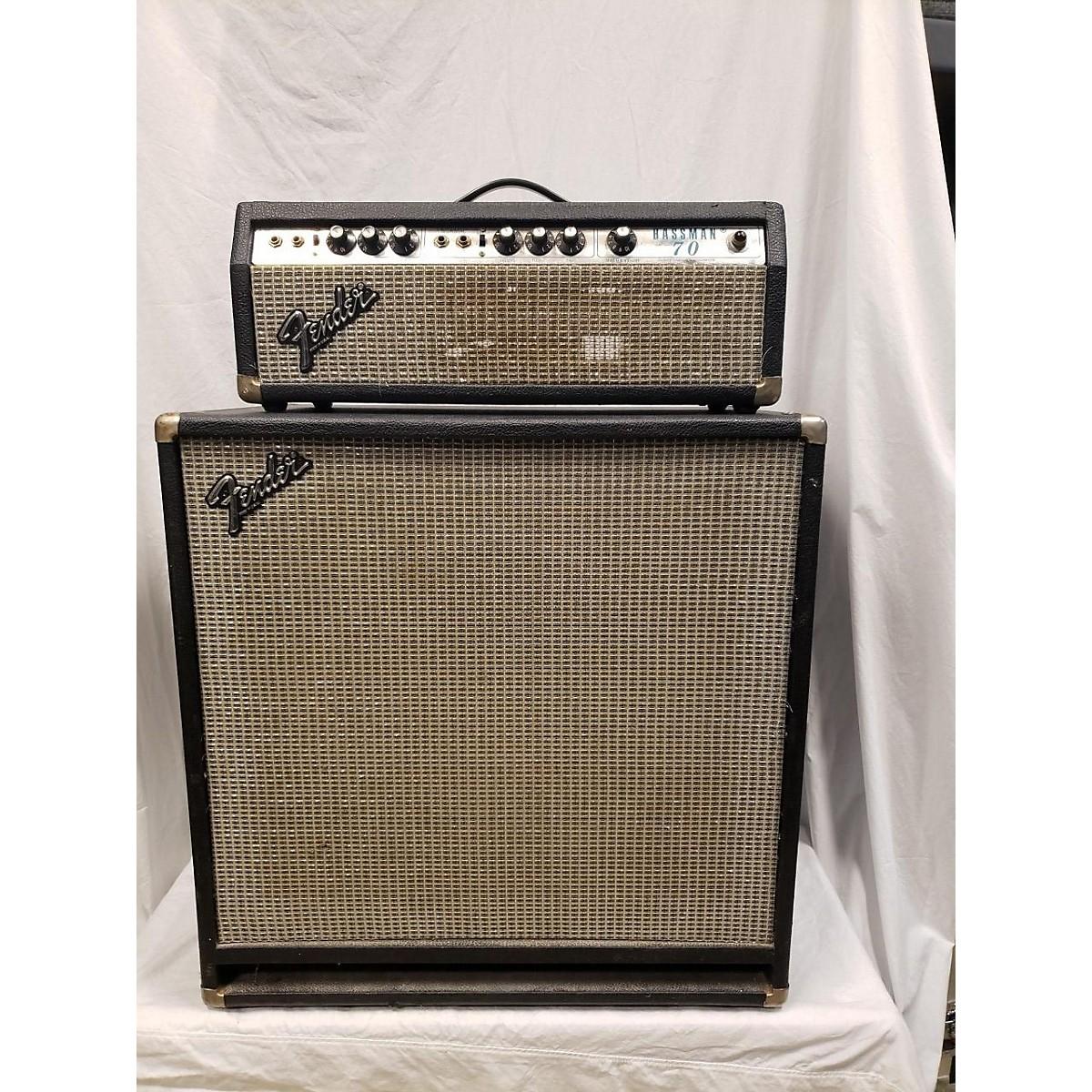 Fender 1979 Bassman 70 W/Matching 1x15 Cab Tube Guitar Amp Head