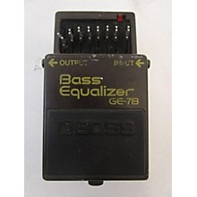 Boss 1980s GEB7 7 Band Bass Equalizer Bass Effect Pedal