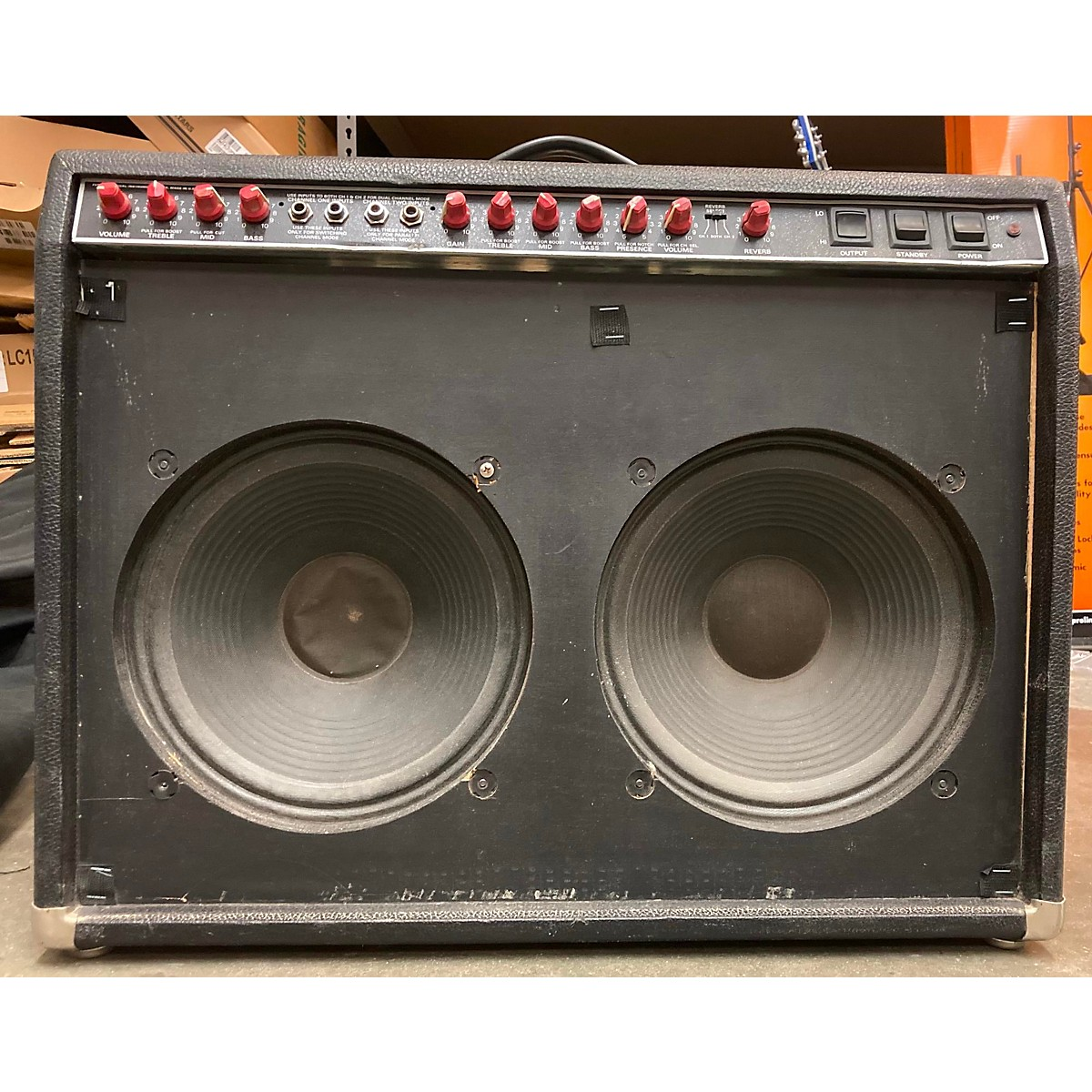 Fender 1980s The Twin Red Knob Tube Guitar Combo Amp