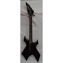 B.C. Rich 1980s Warlock Platinum Solid Body Electric Guitar