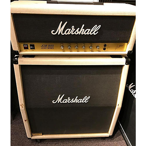 Marshall 1982 JCM Model 2204 20th Anniversary Whit W/ Matching Cab