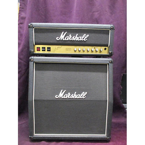 Marshall 1988 JCM 50/25 2553 BLACK JUBILEE WITH MATCHING 4X10 CABINET Tube Guitar Amp Head