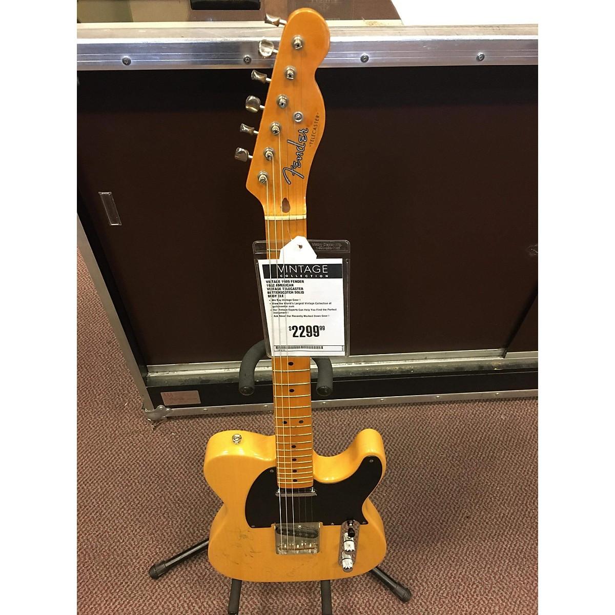 Fender 1989 1952 American Vintage Telecaster Solid Body Electric Guitar