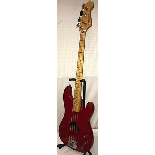 used squier 1990s precision bass electric bass guitar candy apple red guitar center. Black Bedroom Furniture Sets. Home Design Ideas