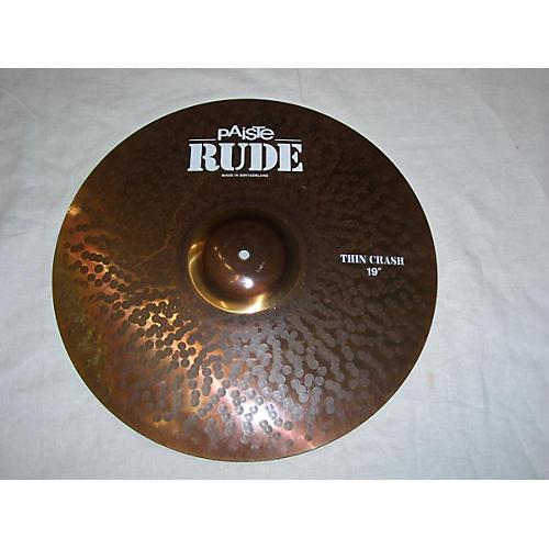 Paiste 19in Rude Thin Crash Cymbal