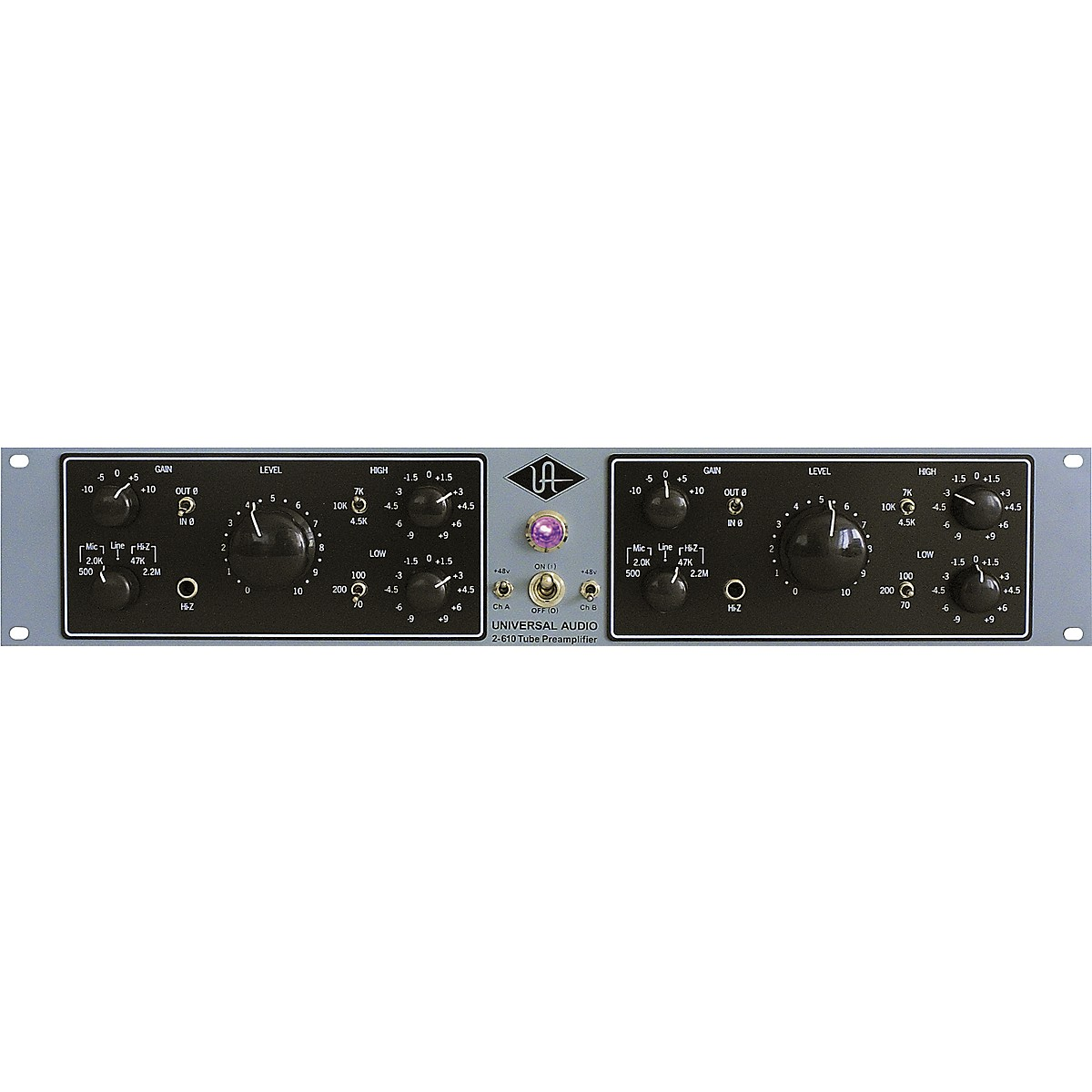 Universal Audio 2-610 Silverface Dual Channel Mic Pre