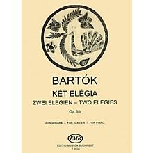 Editio Musica Budapest 2 Elegies Op.8/b-pno EMB Series by Béla Bartók